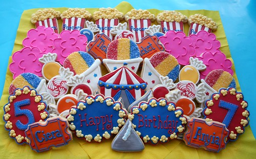 More Carnival Theme Cookies