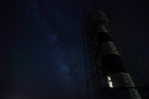 Bodie island light, Milky Way
