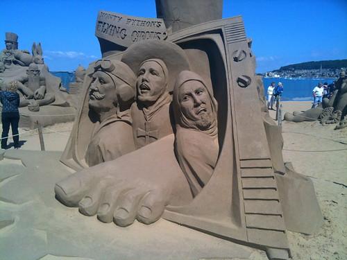 Monty Python Sand Sculpture