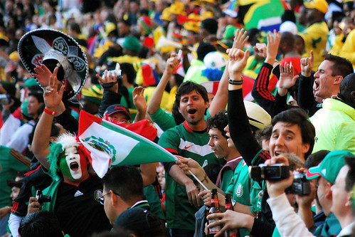 Mexico's Fans at Soccer City