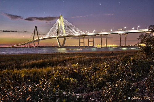 Cooper River Bridge (night)