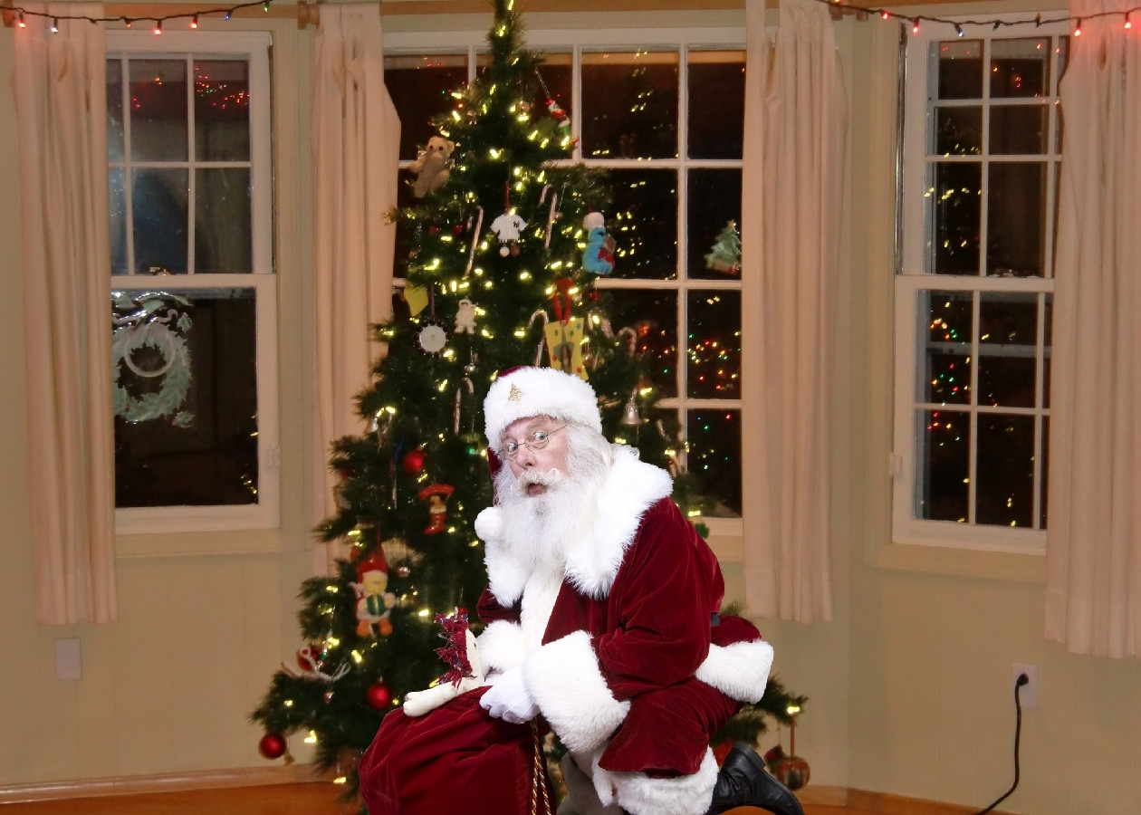 pictures of santa claus in your house house interior