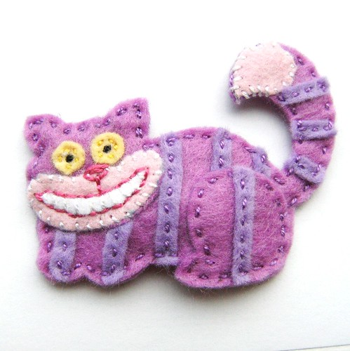 Cheshire Cat Felt Hair Clip