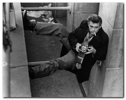 James Dean with Rolleiflex