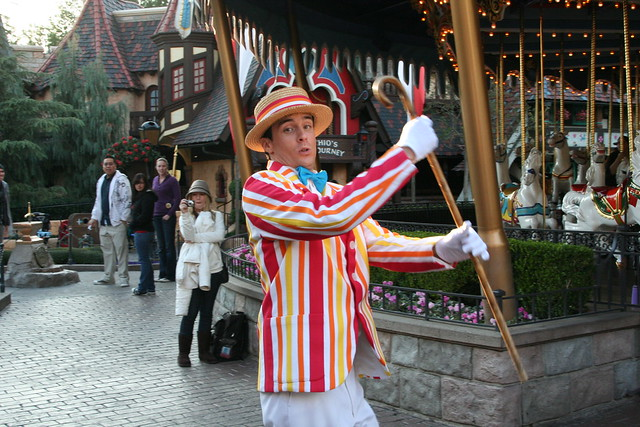 bert from mary poppins near the king arthur carrousel