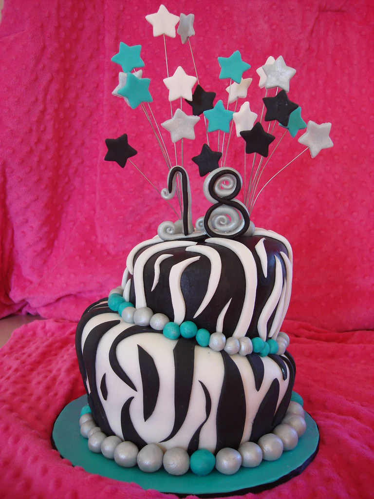 ZEBRA PRINT 18TH BIRTHDAY CAKE A Photo On Flickriver