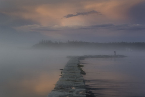 Foggy Sunset Stroll - Lubec, Maine