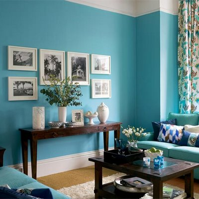 turquoise-living-room-lulupainting | Flickr - Photo Sharing!