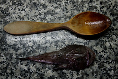 spoon, wood, cutlery,