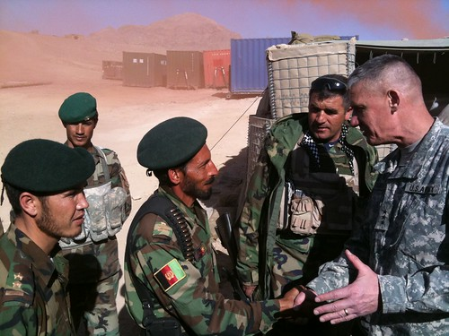 ISAF Joint Commander Visits Helmand Province to Observe Partnership