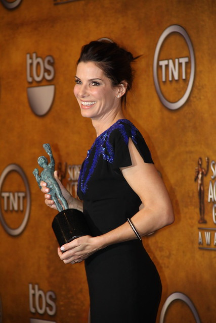 Sandra Bullock, winner of the 2010 SAG award for Outstanding Performance by a Female Actor in a Leading Role