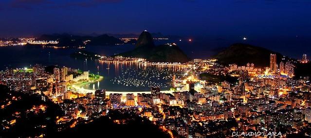 NOITE NO RIO DE JANEIRO  - Brasil - Rio de Janeiro  #CLAUDIOperambulando