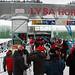 Dolní stanice lanové dráhy na Lysou horu, čekalo se kolem 10 min.