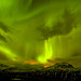 The sky went green with aurora borealis that night by *Jonina*