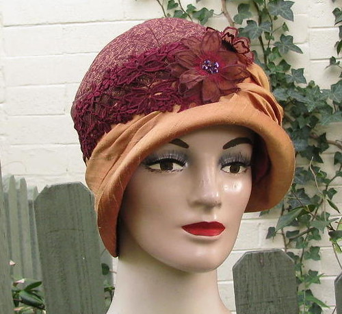 ... Handmade Vintage Style Cloche Womens Hat  b7ca551af45