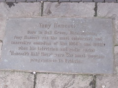Photo of Tony Hancock bronze plaque