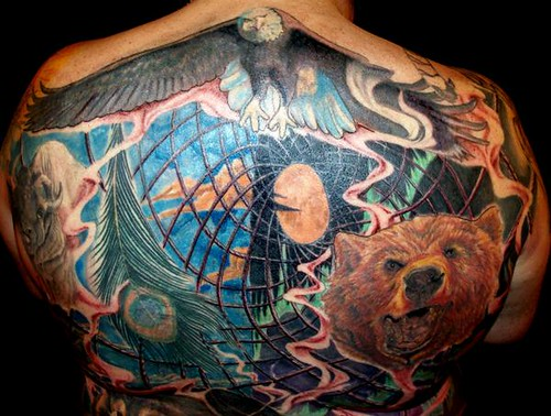 Native spirituality back piece tattoo flickr photo sharing