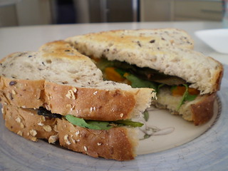 Pumpkin and Spinach Sandwich