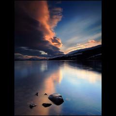 Crazy Cloud Sunset - Loch Tay