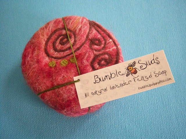 felted soap with needle felted swirls | Flickr - Photo Sharing!