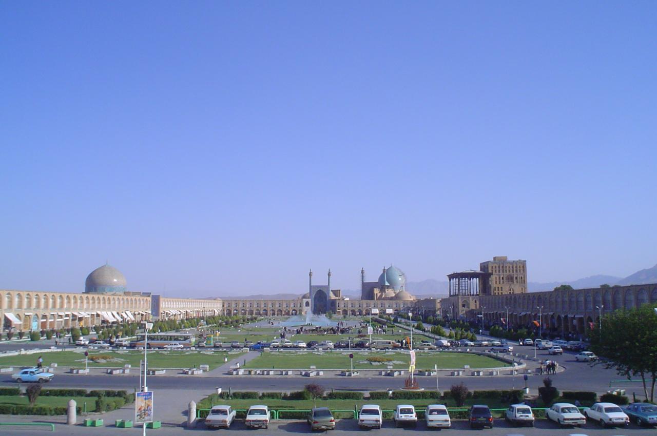 Fotografia da Praça central em Esfaão, Irão