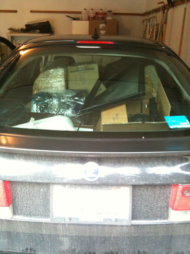 saab car full of stuff