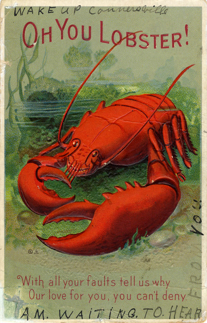 Vintage lobster postcards - a gallery on Flickr