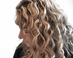 face, hairstyle, ringlet, hair, long hair, brown hair, blond, hair coloring,