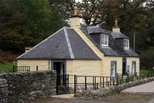 Cardoness Castle entrance cottage