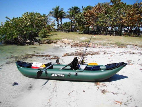 Saturn Inflatable Pro-Angler Fishing Kayak ultralight fishing