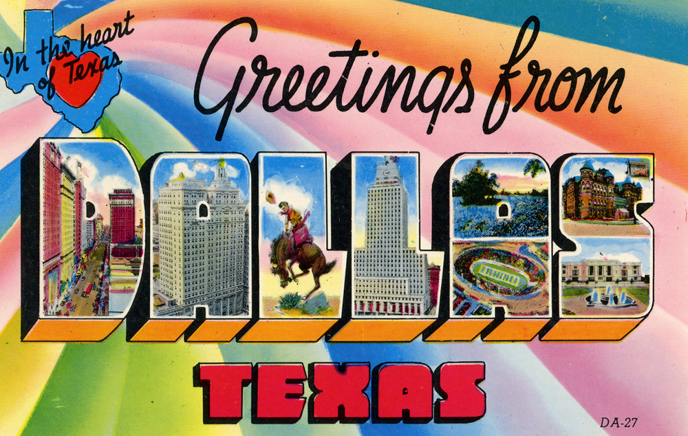 Greetings from dallas texas in the heart of texas large letter greetings from dallas texas in the heart of texas large letter postcard m4hsunfo
