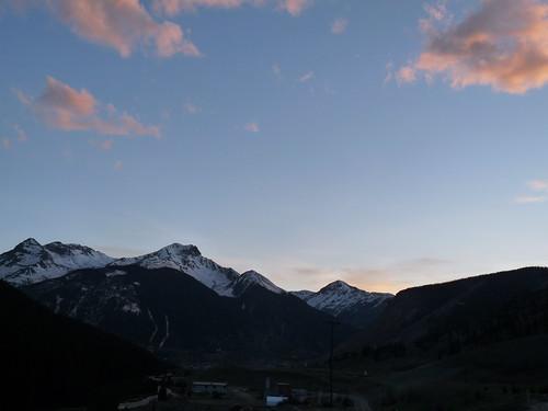 sunset sky mountains clouds colorado silverton sanjuanmountains