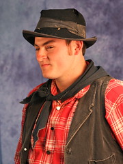 clothing, red, hat, person, cowboy,