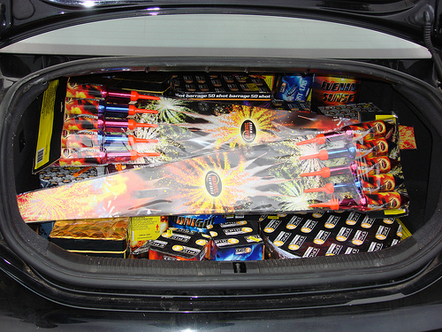 TOMAHAWK Rockets in the back of a car