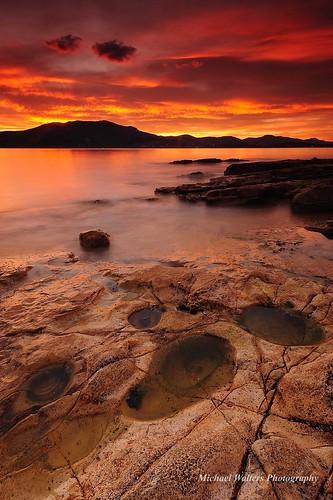 longexposure sunset landscape australia tasmania
