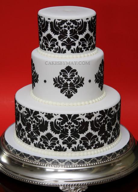 Damask Pattern Wedding Cake Explore April 10 2010 479