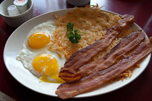 Bacon, eggs, and hash browns | Flickr - Photo Sharing!