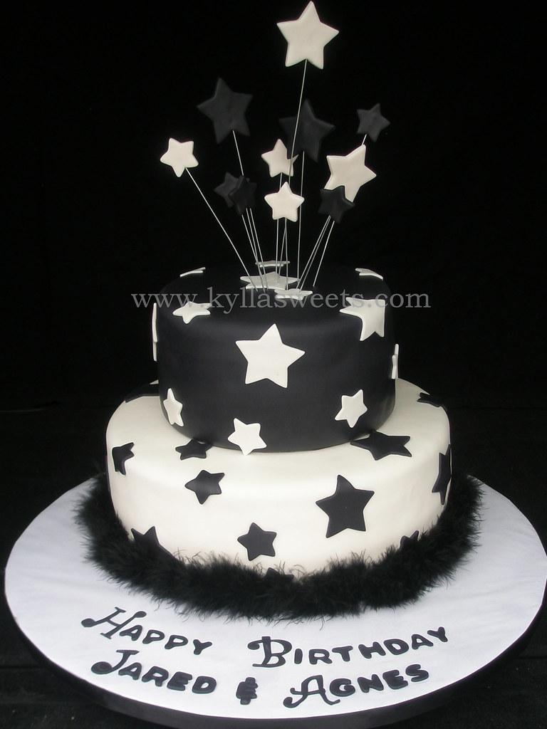 Black White Birthday Cake A Photo On Flickriver