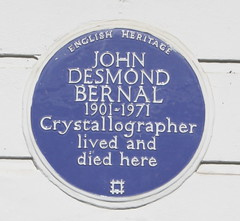 Photo of John Desmond Bernal blue plaque