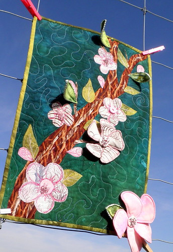 Apple Blossom Art Quilt 1