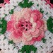 Thread Crochet Potholder with Pink Rose