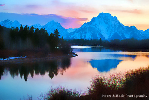 trees sunset sky lake snow mountains reflection nature clouds sunrise river outdoors spring wyoming reflexions grandtetonnationalpark oxbowbend colorphotoaward impressedbeauty theunforgettablepictures bestcapturesaoi magicunicornverybest coth5 aspenbreeze top25purplepinkblue
