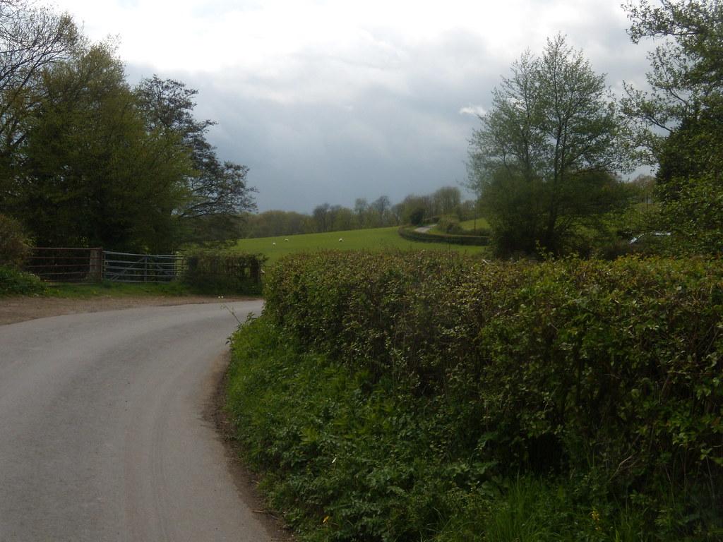 Winding road Hurst Green to Westerham
