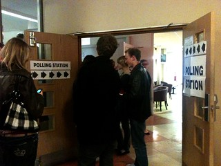 Queues at the York University polling station