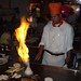 Flaming onion Volcano at Musashi Restaurant in Porter Ranch, California