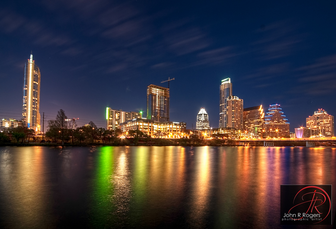 Austin Skyline Reflection across Lady Bird Lake