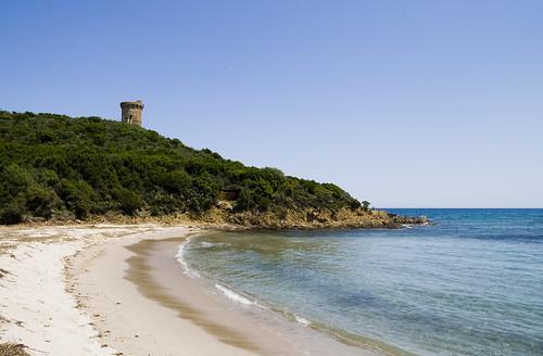 Plage de Fautea en Corse