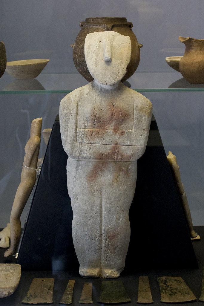 Spedos Figurine Of A Woman Cycladic This Figurine Of A