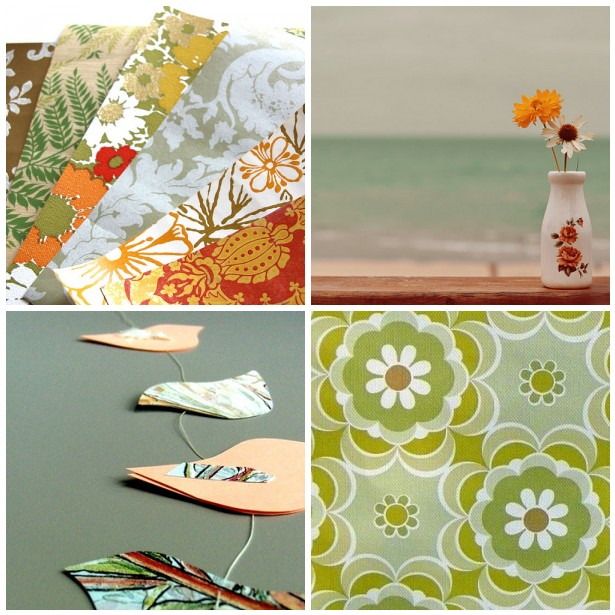 colour palette : vintage greens - curated by Emma Lamb