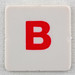 hangman tile red letter B